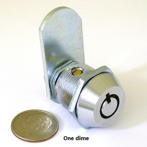"7/8"" tubular cylinder cam lock with 2 keys, keyed-alike"