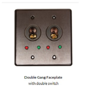 Double Gang Faceplate for Double SFIC key switches