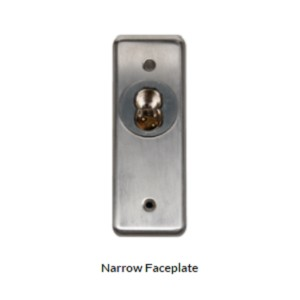 Narrow Single Gang Faceplate for SFIC key switch lock