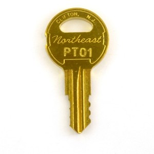 Northeast Lock PTL PT01 Key - light, fan, elevator independent service key