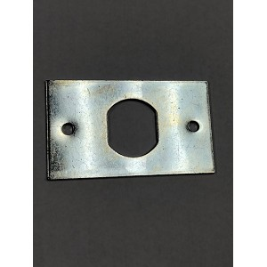 "Rectangle mounting plate (aka. anchor plate) for key switch lock and cam lock with cutout .75"" x .64"" (flat)"