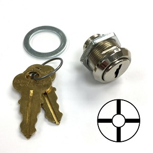 Chicago-CompX 2242 Lock with H series keys for Blue Rotary Switches (less switch)