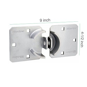 Master Lock Hockey Puck Lock Hasp for Van, Solid Steel
