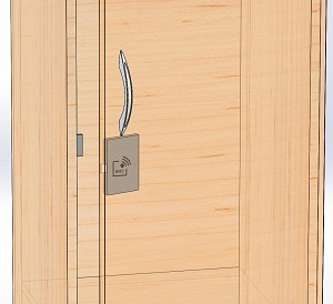 Electronic RFID cabinet lock, hidden style