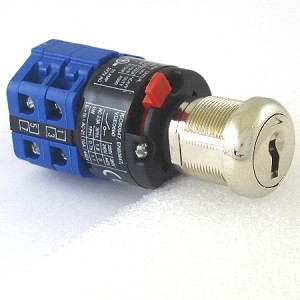 Three position two key-pull Elevator Fire service PHASE II (PHASE TWO) quick connect blue key switch lock with two AZFS keys