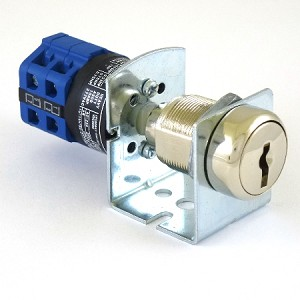 Yale fire service PHASE 2 blue key switch without key, 3 position 2 key-pull  (custom config. switch 10196)