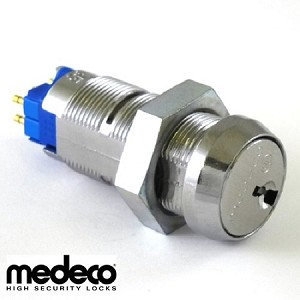 Medeco Switch Lock - High Security Key Switch, Double Pole, Six Terminals